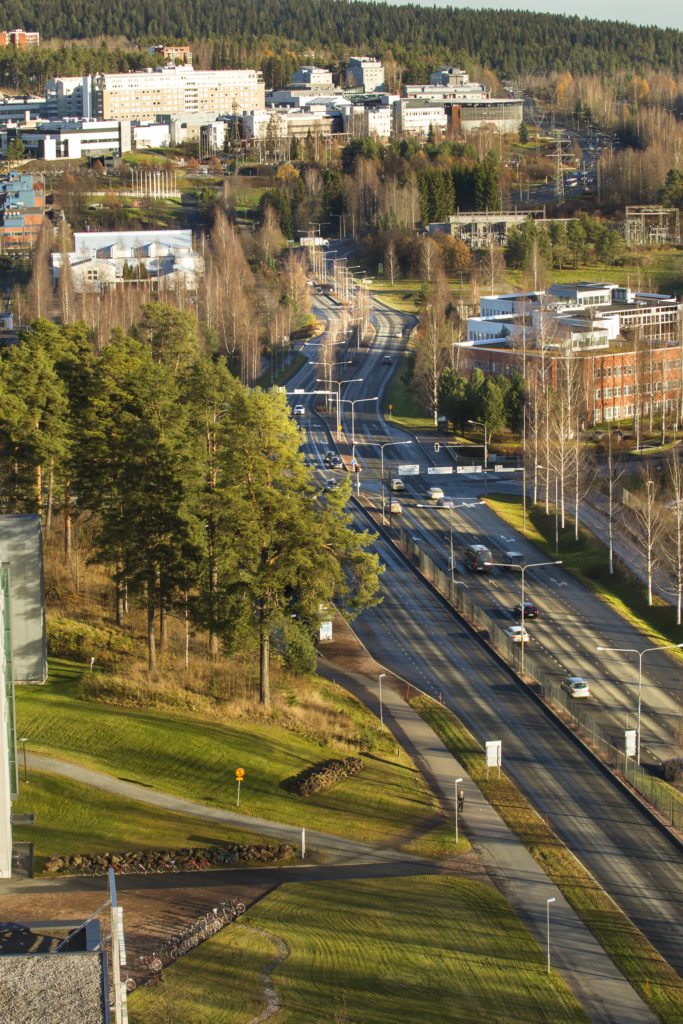 Savilahti area and Kuopio university hospital