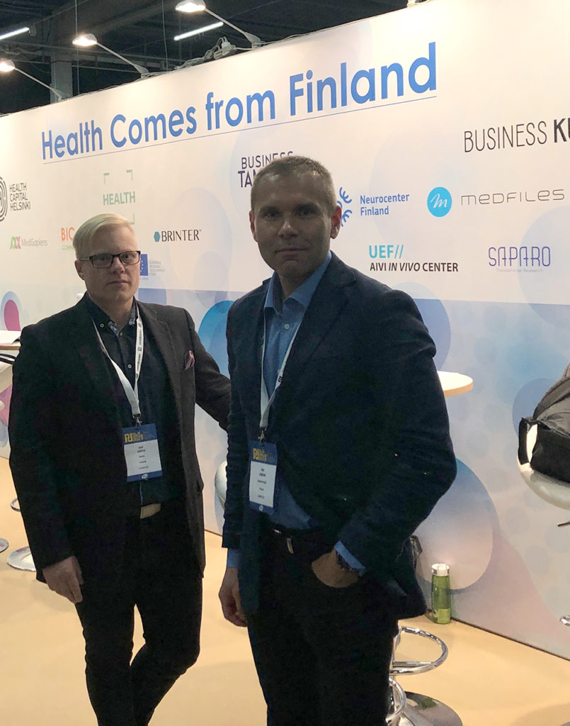Health comes from Finland booth at Nordic Life Science Days